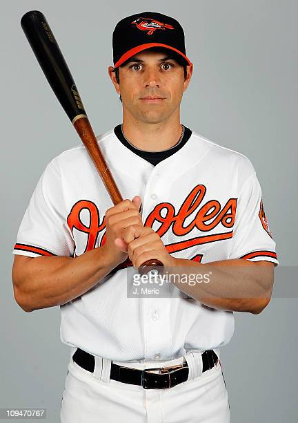 Infielder Brian Roberts of the Baltimore Orioles poses for a photo during photo day at Ed Smith Stadium on February 26 2011 in Sarasota Florida