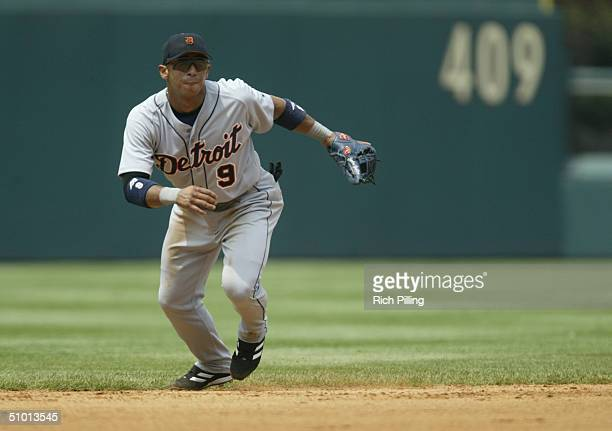 Infielder Carlos Guillen of the Detroit Tigers plays defense against the Philadelphia Phillies during the interleague game at Citizens Bank Park on...