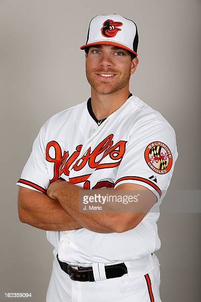 Infielder Chris Davis of the Baltimore Orioles poses for a photo during photo day at Ed Smith Stadium on February 22 2013 in Sarasota Florida