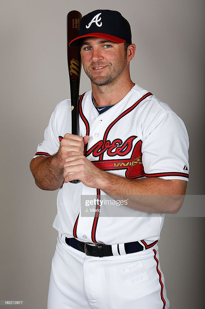 Infielder Dan Uggla #26 of the Atlanta Braves poses for a photo during photo day at Champion Stadium at the ESPN Wide World of Sports Complex at Walt Disney World on February 20, 2013 in Lake Buena Vista, Florida.