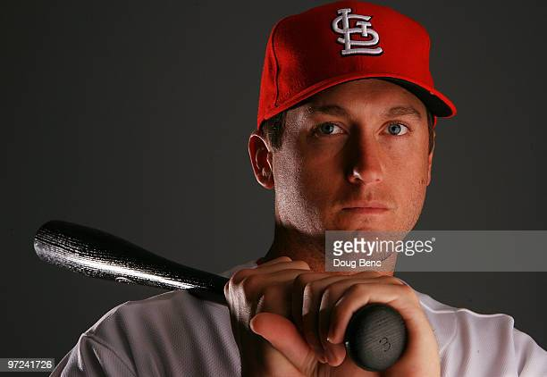Infielder David Freese of the St Louis Cardinals during photo day at Roger Dean Stadium on March 1 2010 in Jupiter Florida