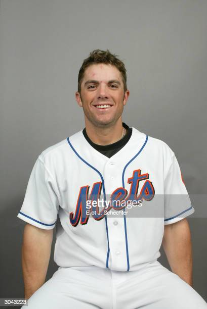 Infielder David Wright of the New York Mets during Spring Training photo day February 29 2004 in Port St Lucie Florida