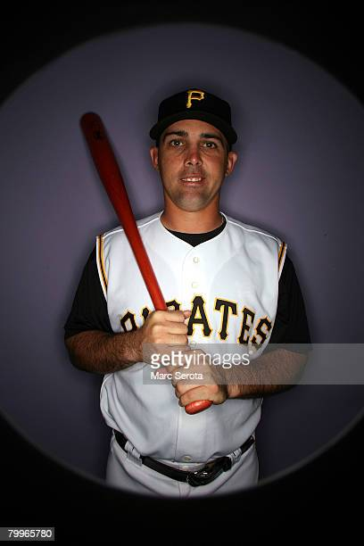 Infielder Jack Wilson of the Pittsburgh Pirates poses for photos during spring training media day on February 24 2008 at Pirate City in Bradenton...