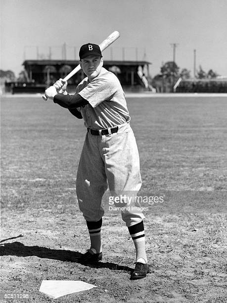 Infielder Joe Cronin of the Boston Red Sox poses for a portrait during the 1940 Spring Training in Winter Haven, Florida.