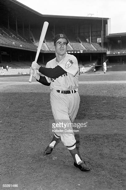 Infielder Johnny Pesky of the Boston Red Sox poses for a portrait prior to a game in 1951 against the Philadelphia A's at Shibe Park in Philadelphia...