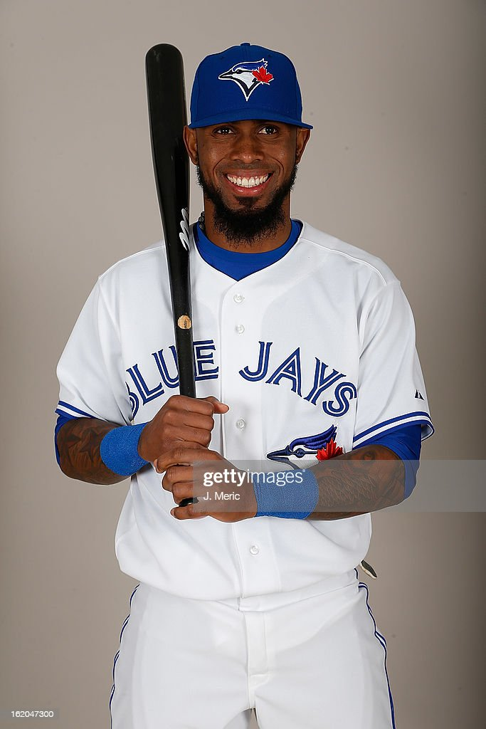 Infielder Jose Reyes #7 of the Toronto Blue Jays poses for a photo during photo day at Florida Auto Exchange Stadium on February 18, 2013 in Dunedin, Florida.