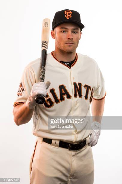 Infielder Josh Rutledge poses for a photo during the San Francisco Giants photo day on Tuesday Feb 20 2018 at Scottsdale Stadium in Scottsdale Ariz