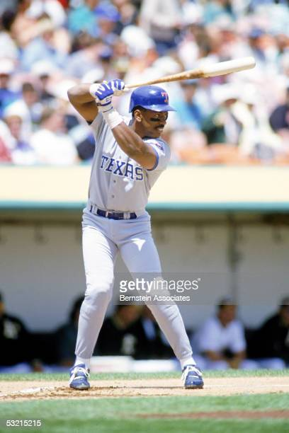 Infielder Julio Franco of the Texas Rangers bats during a 1993 game Franco was a Ranger from 198993