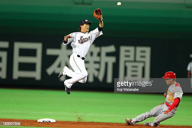 Infielder Kazuo Matsui of Japan in action during the World Baseball Classic First Round Group A game between Japan and China at Fukuoka Yahoo Japan...