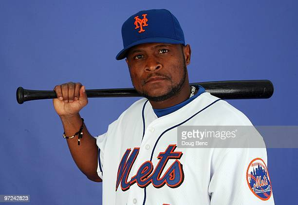 Infielder Luis Castillo of the New York Mets poses during photo day at Tradition Field on February 27 2010 in Port St Lucie Florida