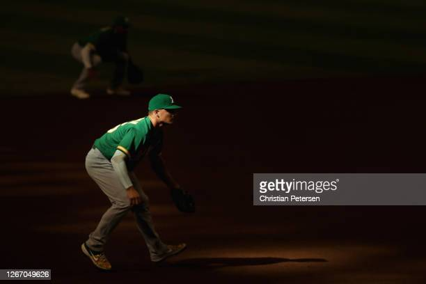 Infielder Matt Chapman of the Oakland Athletics in action during the fourth inning of the MLB game against the Arizona Diamondbacks at Chase Field on...