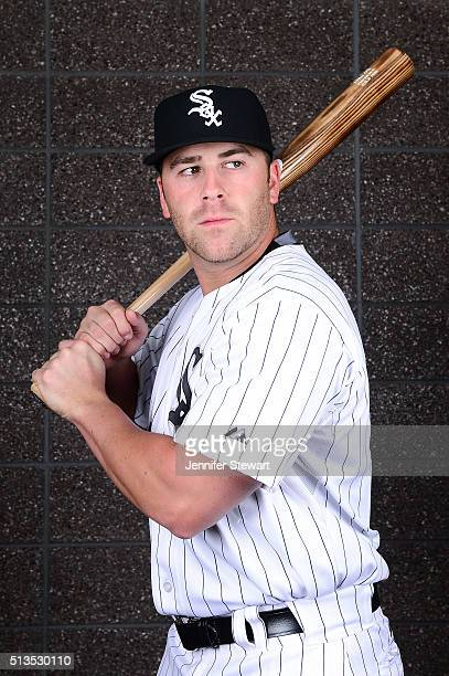 Infielder Mike Olt of the Chicago White Sox poses for a portrait during spring training photo day at Camelback Ranch on February 27 2016 in Glendale...