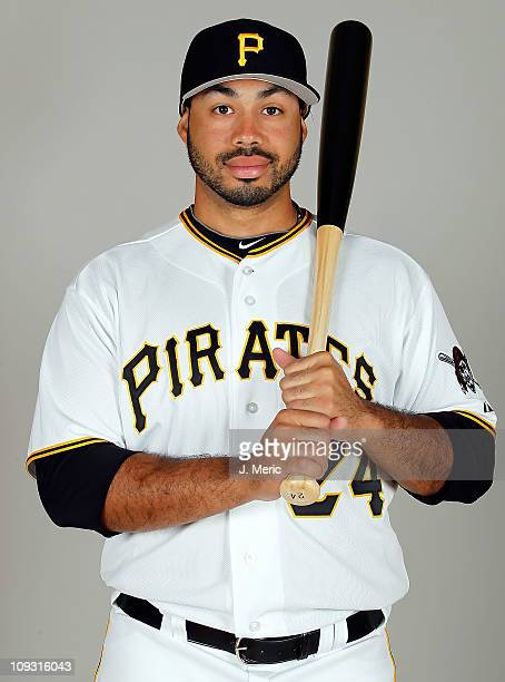 Infielder Pedro Alvarez of the Pittsburgh Pirates poses for a photo during photo day at Pirate City on February 20 2011 in Bradenton Florida