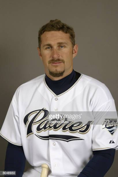 Infielder Phil Nevin of the San Diego Padres poses for a picture during media day at Peoria Sports Complex on February 28 2004 in Peoria Arizona