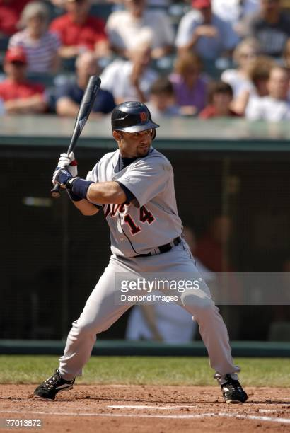 Infielder Placido Polanco of the Detroit Tigers bats during a game with the Cleveland Indians on Wednesday September 19 2007 at Jacobs Field in...