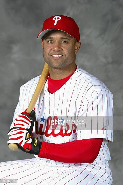 Infielder Placido Polanco of the Philadelphia Phillies poses for portrait during media day at the Phillies Spring Training Complex on February 27...