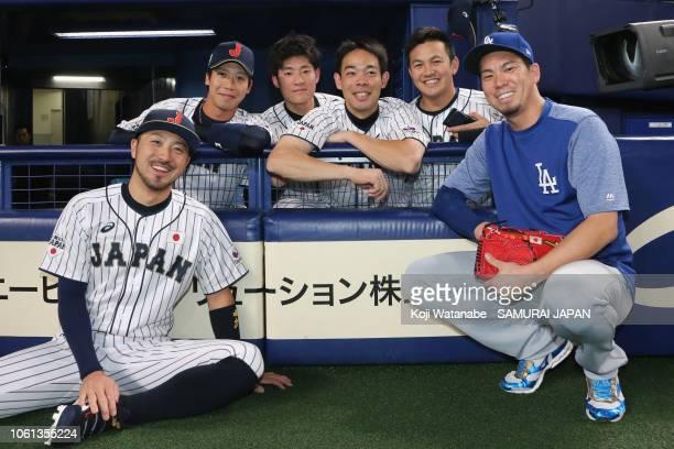 Infielder Ryosuke Kikuchi Infielder Tetsuto Yamada Outfielder Seiji Uebayashi Outfielder Shogo Akiyama Pitcher Yasuaki Yamasaki and Pitcher Kenta...