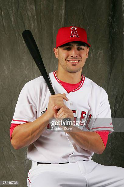 Infielder Sean Rodriguez of the Los Angeles Angels of Anaheim poses during Photo Day on February 22 2007 at Tempe Diablo Stadium in Tempe Arizona