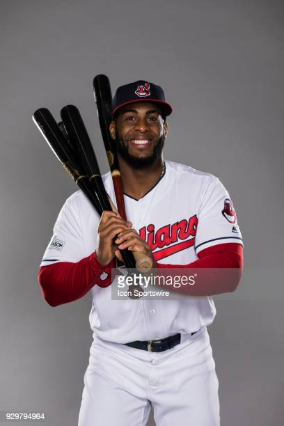 Infielder Yandy Diaz poses for a photo during the Cleveland Indians photo day on Wednesday Feb 21 2018 at Goodyear Ballpark in Goodyear Ariz