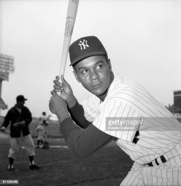 Infielder/Outfielder Hector Lopez of the New York Yankees poses for a portrait prior to a game in 1962 at Yankee Stadium in New York New York Hector...
