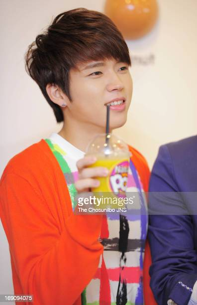 Infinite attend their autograph session collaboration for Natuur on May 15 2013 in Seoul South Korea