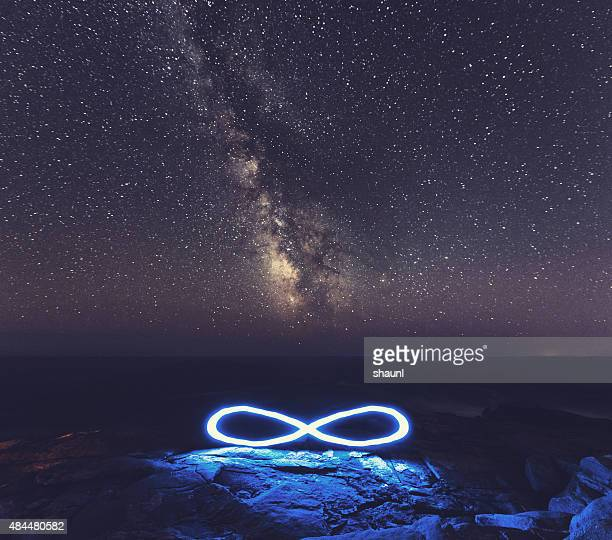 infinite milky way - eternity stock pictures, royalty-free photos & images