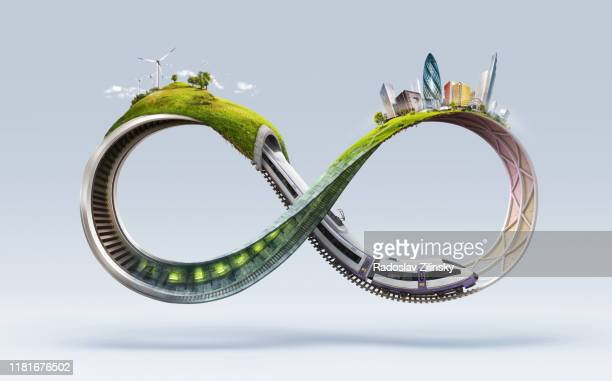 infinite symbol with creative ideas - symbol stock pictures, royalty-free photos & images