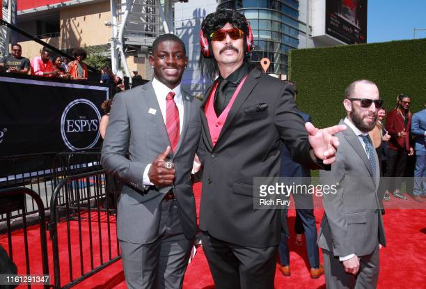 Infinite Tucker and Dr DisRespect attend The 2019 ESPYs at Microsoft Theater on July 10 2019 in Los Angeles California