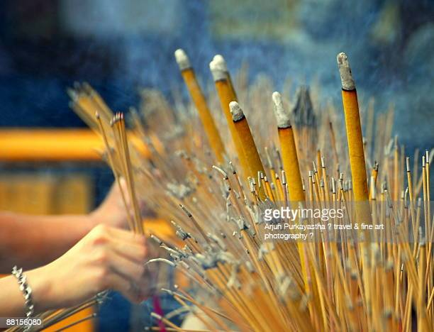 infinite wishes - incense stock photos and pictures