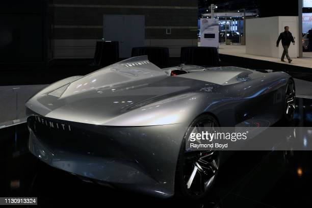 Infiniti 10 Concept is on display at the 111th Annual Chicago Auto Show at McCormick Place in Chicago, Illinois on February 8, 2019.