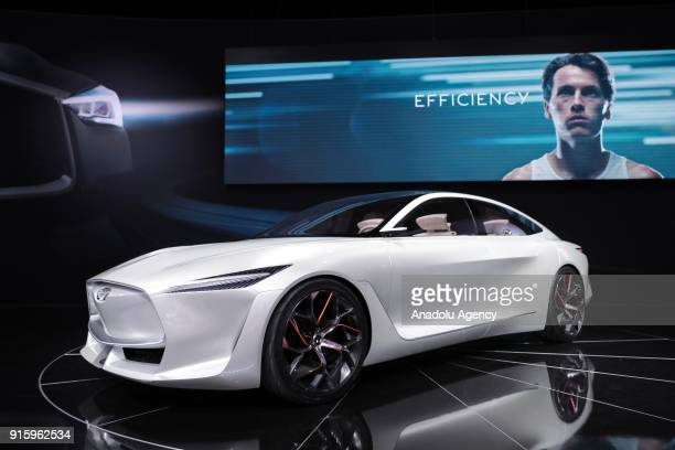 Infiniti Q Inspiration Concept is on display during the Chicago Auto Show at McCormick Place in Chicago Illinois United States on February 8 2018
