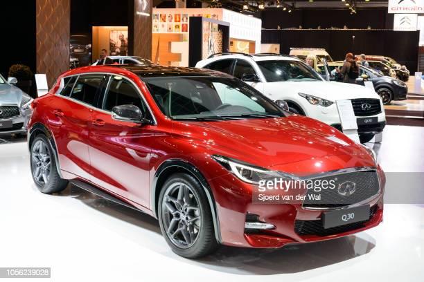 Infiniti Q30 luxury crossover SUV on display at Brussels Expo on January 13 2017 in Brussels Belgium Nissan's luxury branded Infiniti Q30 is...