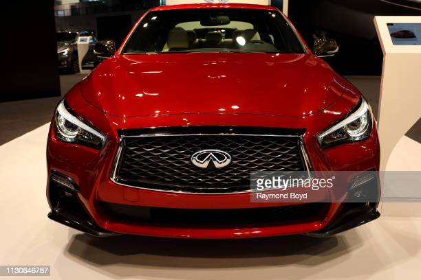 Infiniti Q50S is on display at the 111th Annual Chicago Auto Show at McCormick Place in Chicago Illinois on February 8 2019