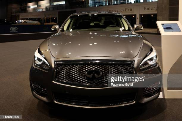 Infiniti Q70L is on display at the 111th Annual Chicago Auto Show at McCormick Place in Chicago Illinois on February 8 2019