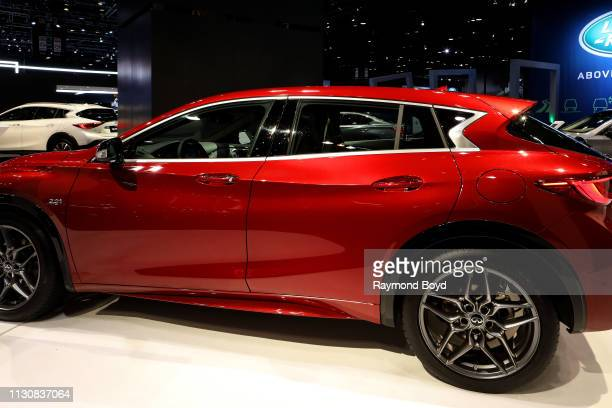 Infiniti QX30 is on display at the 111th Annual Chicago Auto Show at McCormick Place in Chicago Illinois on February 8 2019
