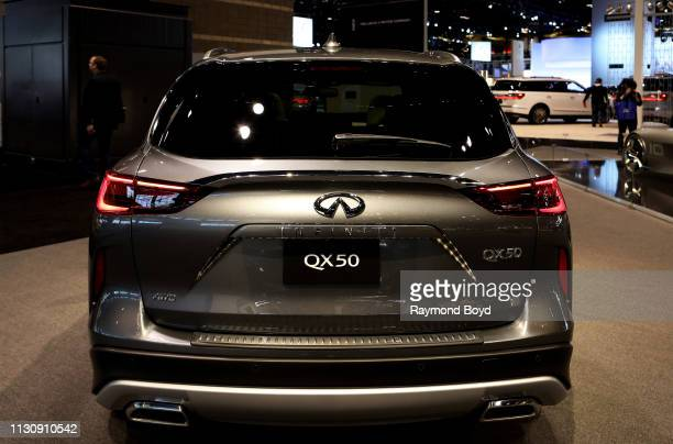 Infiniti QX50 is on display at the 111th Annual Chicago Auto Show at McCormick Place in Chicago Illinois on February 8 2019