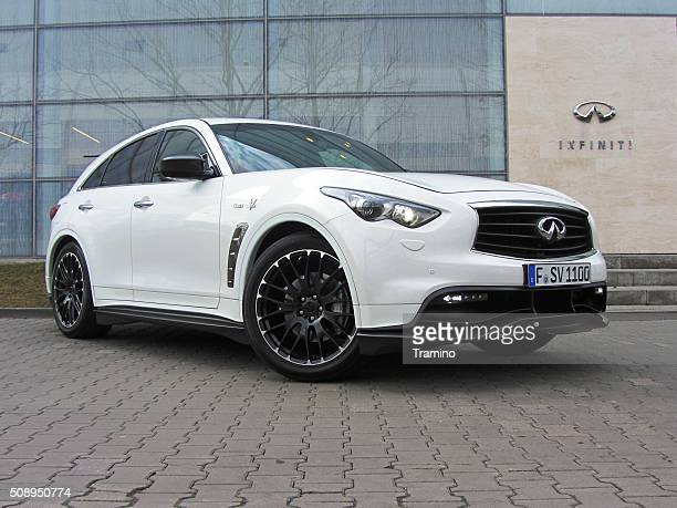 Infiniti QX70 Vettel Edition on the parking