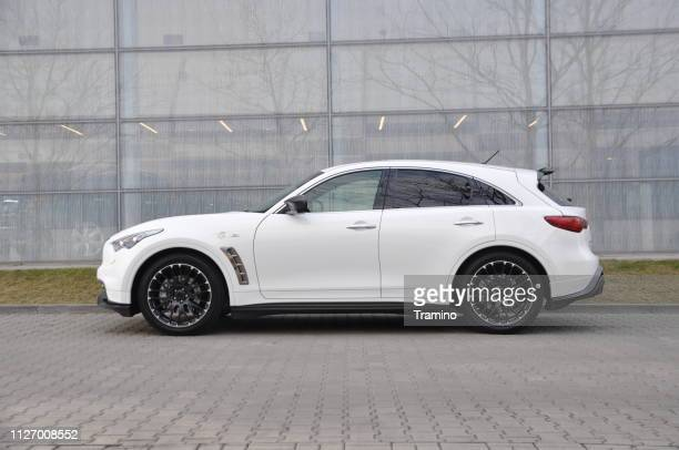 Infiniti QX70 Vettel Edition on the street