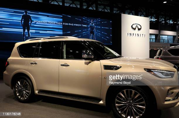Infiniti QX80 is on display at the 111th Annual Chicago Auto Show at McCormick Place in Chicago Illinois on February 7 2019