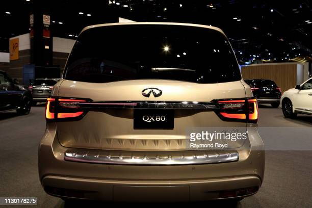 Infiniti QX80 is on display at the 111th Annual Chicago Auto Show at McCormick Place in Chicago, Illinois on February 7, 2019.