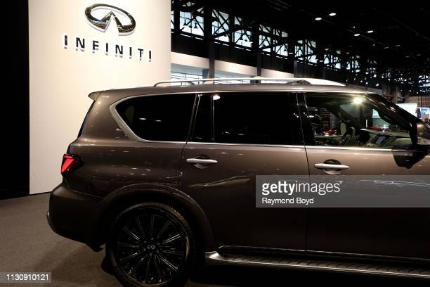 Infiniti QX80 is on display at the 111th Annual Chicago Auto Show at McCormick Place in Chicago Illinois on February 8 2019