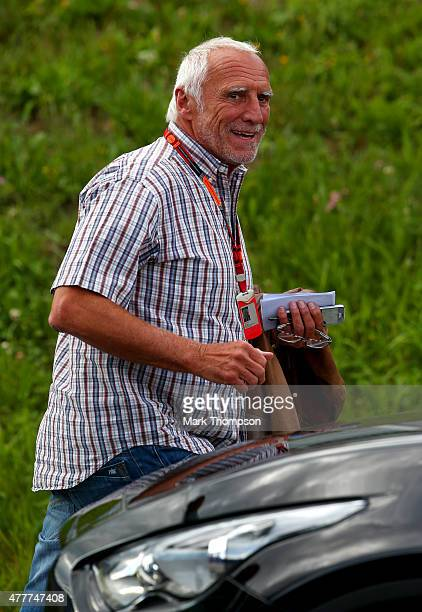 Infiniti Red Bull Racing team owner and CEO of the Austria energy drink producer Red Bull Dietrich Mateschitz leaves the track after practice for the...