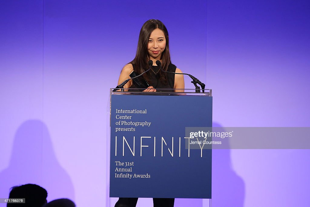 Infinity Award winner photographer Evgenia Arbugaeva speaks onstage at the International Center of Photography 31st annual Infinity Awards at Pier Sixty at Chelsea Piers on April 30, 2015 in New York City.