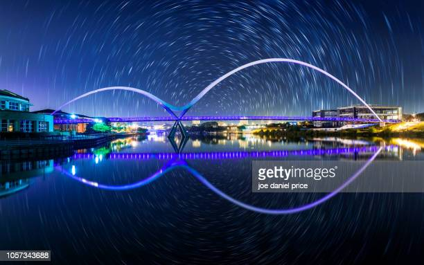 infinity bridge, stockton on tees, near middlesbrough, england - middlesbrough stock pictures, royalty-free photos & images