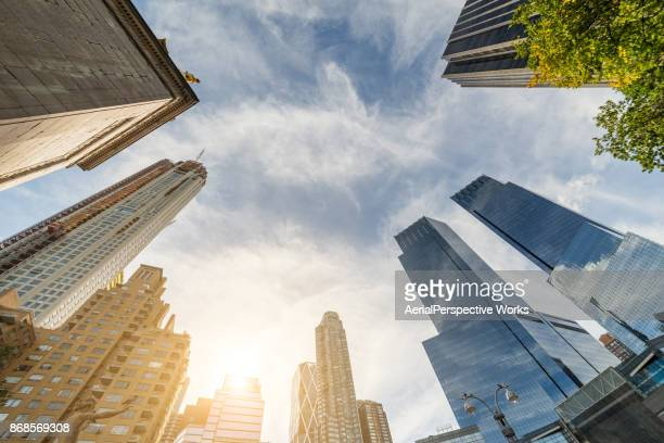 Infinity Buildings in Sunlight, New York