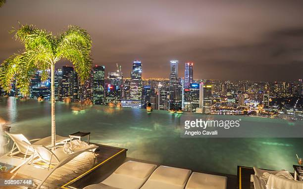 Infinity pool at Marina Bay Sands Hotel, Singapore