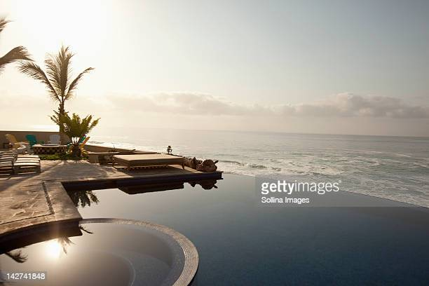 Infinity pool near ocean