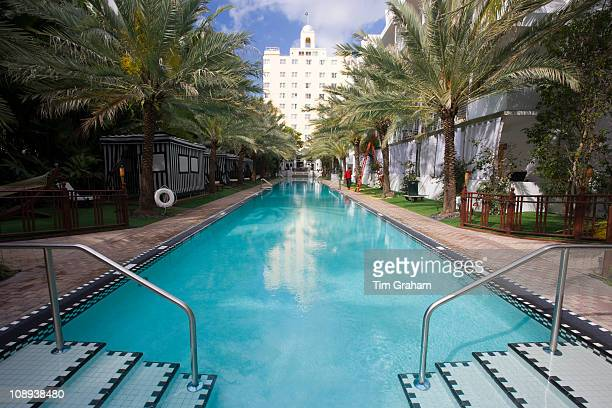 Infinity pool oceanside at The National Hotel in Collins Avenue South Beach Miami Florida United States of America