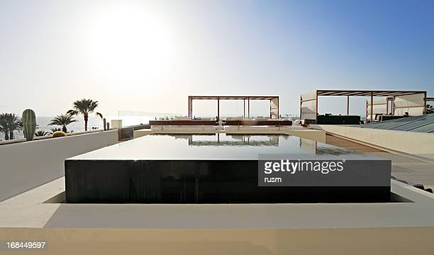 infinity pool, tenerife - tenerife stock pictures, royalty-free photos & images