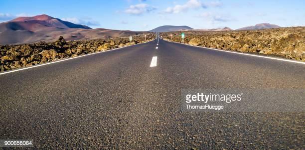 Infinity-Straße nach Lanzarote Timanfaya Vulkan